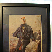 Authentic French military print General Gallieni 1916