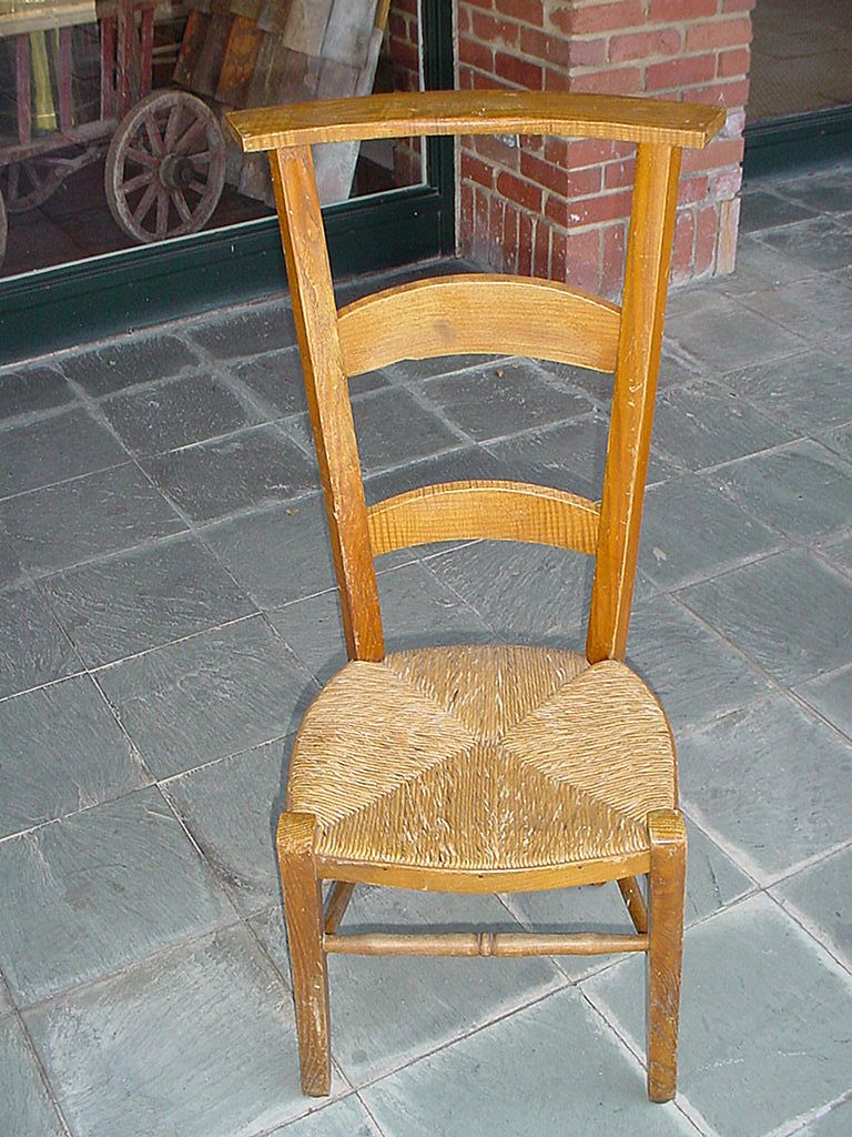 - French Prayer Chair With Rush Seat Late 1800 SOLD Ruby Lane