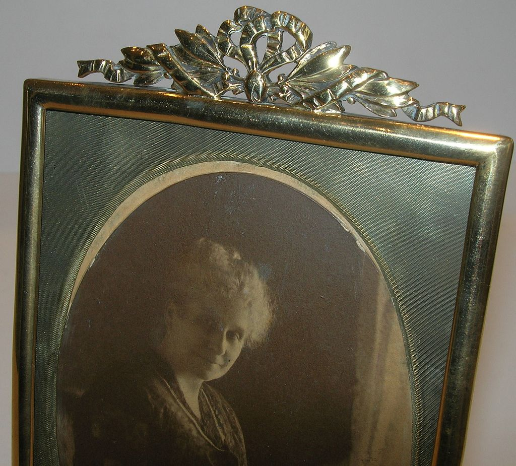 Antique English Brass Photograph Frame - Victorian
