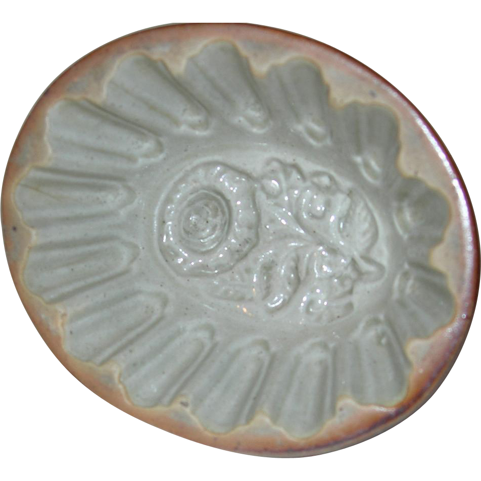 Antique English Floral Food Mold