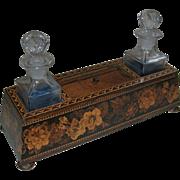 Antique Tunbridge Ware Dressing Table Box / Perfume Caddy