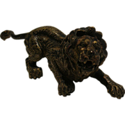 Quality Vienna Cold Painted Bronze Lion c.1900