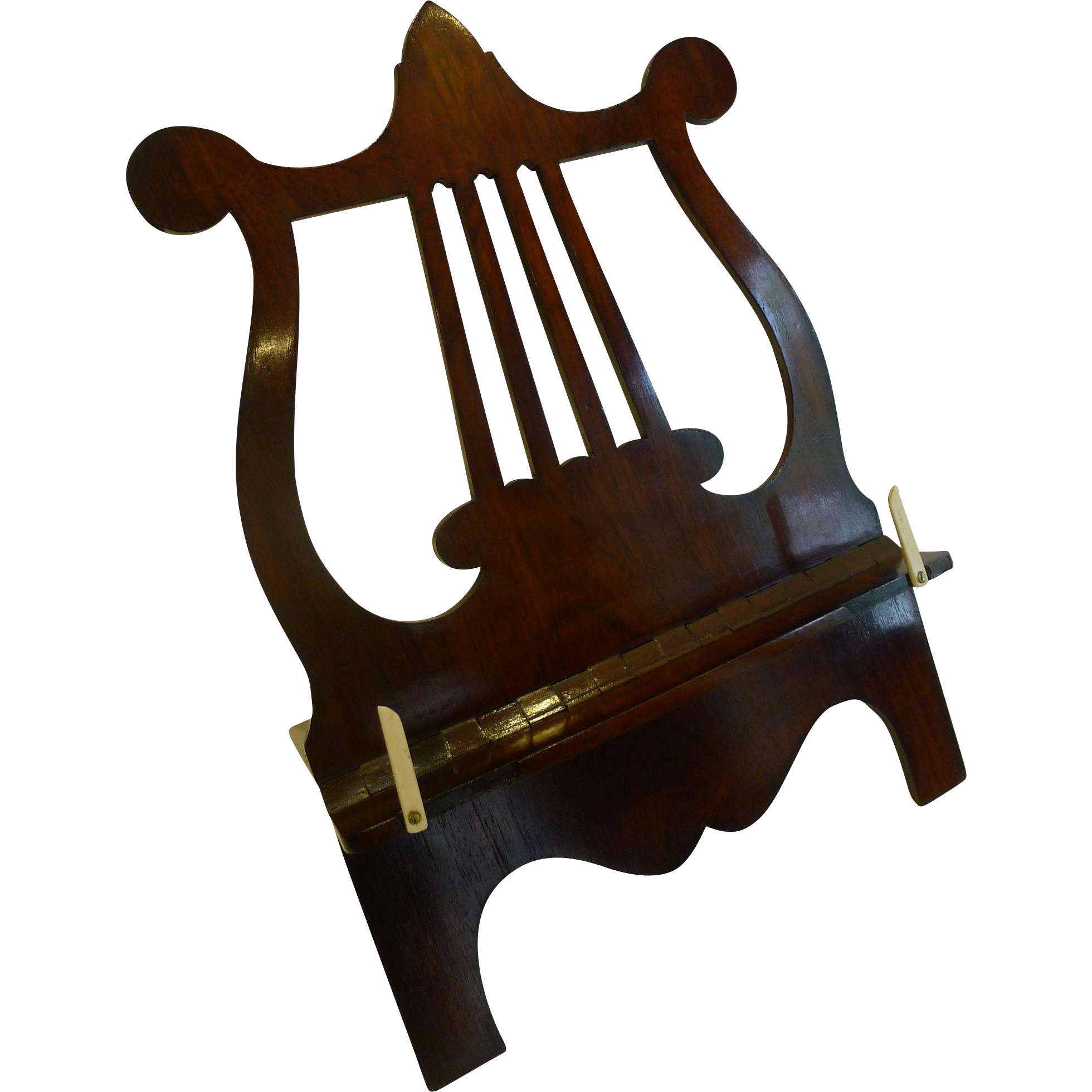 Fine English Regency Lyre Book or Music Stand / Lectern c.1820