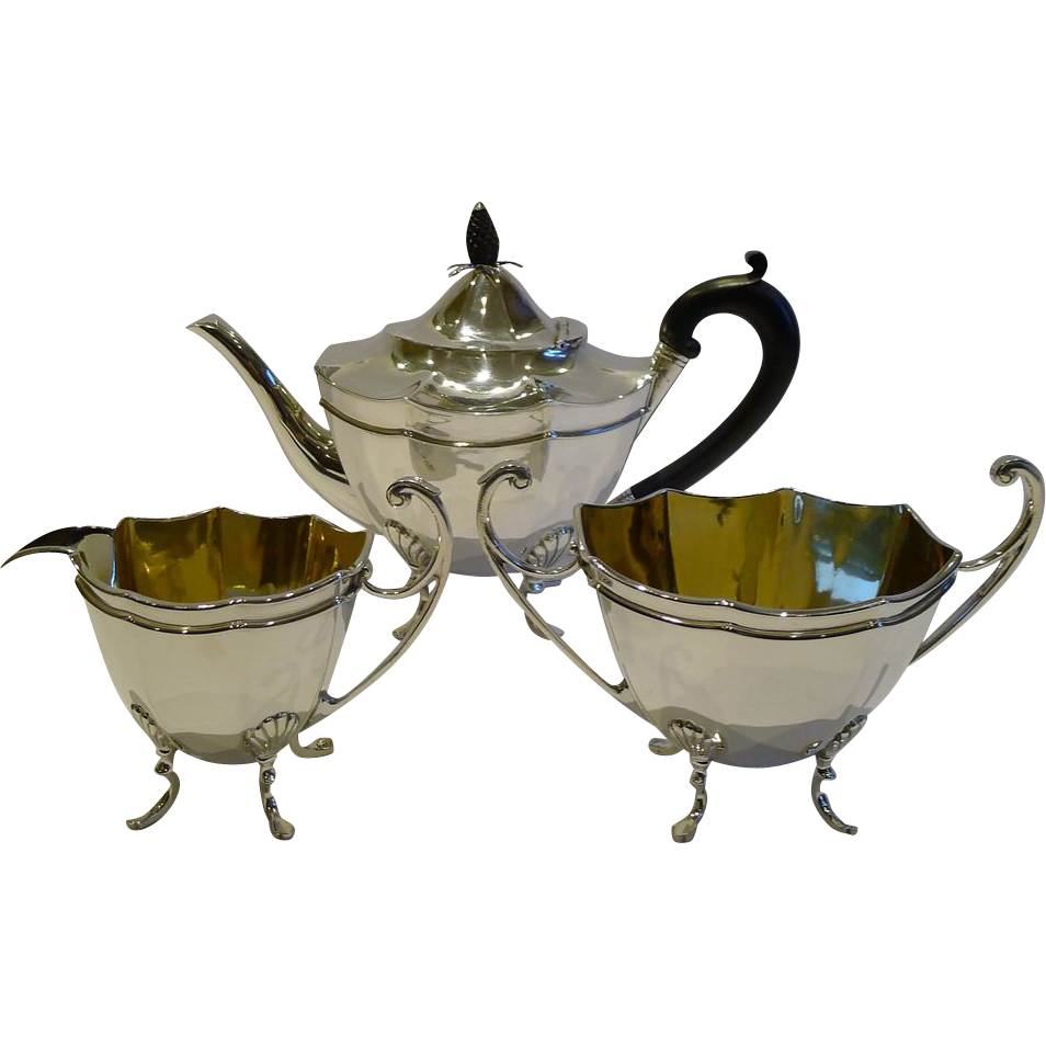 Elegant Antique English Silver Plated Tea Set c.1880 by Thomas Latham & Ernest Morton