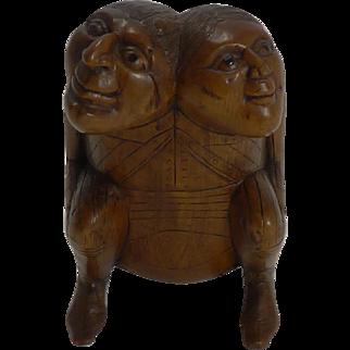 Rare Antique English Figural 18th / 19th Century Snuff Box