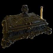 Stunning Antique English Bronze Desk-Top Sealing Wax Box c.1850 - Red Tag Sale Item