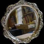Stylish Antique English Art Nouveau Salver / Tray by Roberts & Belk c.1890