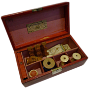 Antique George III Leather Sewing Box by William Dobson - Kirby's Pins & Needles c.1810