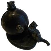 Antique English Figural Counter Bell - Cats - c.1890