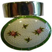 Antique English Sterling Silver and Guilloche Enamel Box - 1911