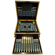 Antique English Fruit Eaters For 12 - Fruit & Nut Serving Set by Joseph Ridge c.1882
