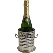 Antique English Silver Plate Wine / Champagne Bottle Holder c.1890