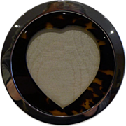 Antique English Sterling Silver & Tortoise Shell Heart Frame - 1901