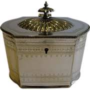 Antique English Silver Plated Tea Caddy c.1860