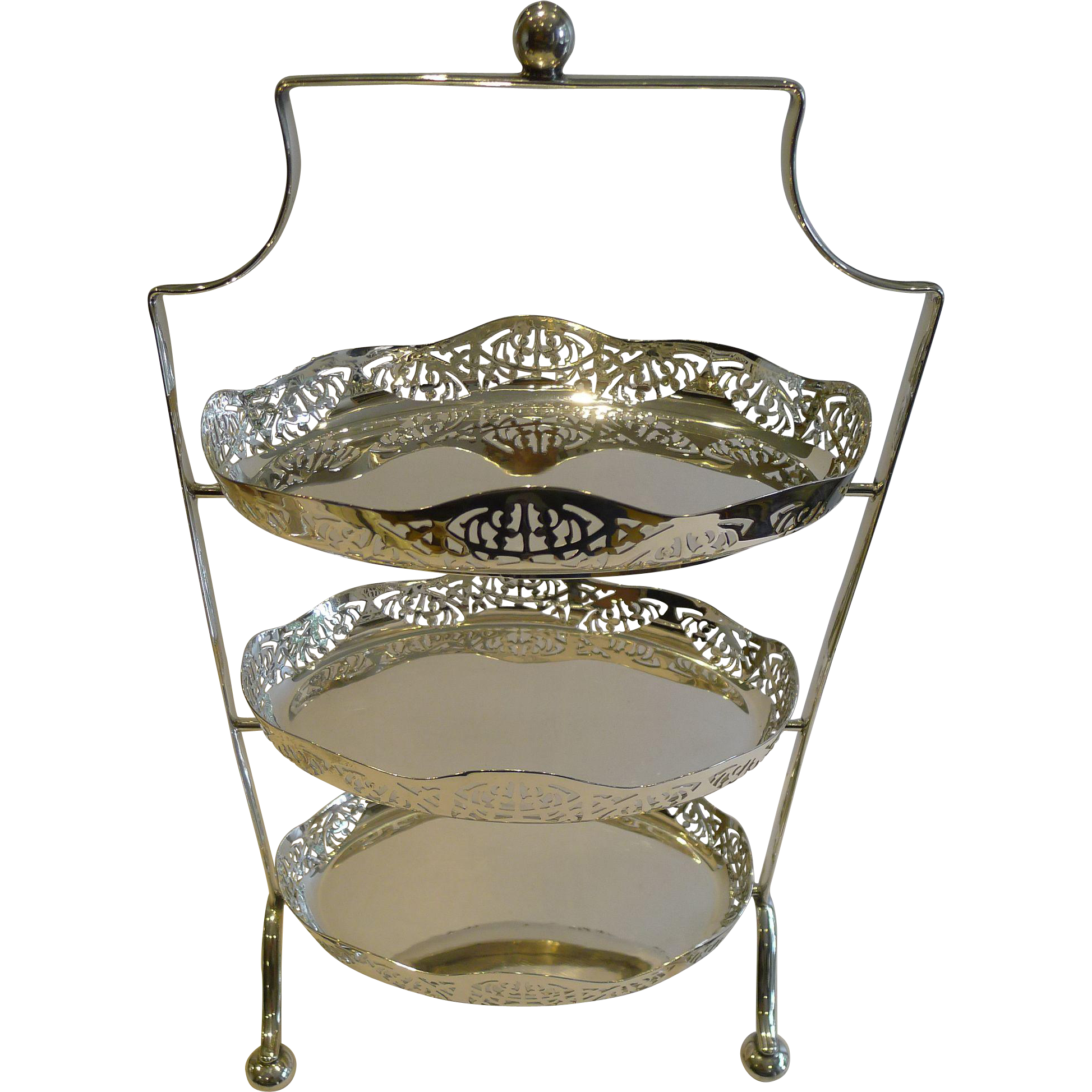 Silver Three Tier Cake Stand