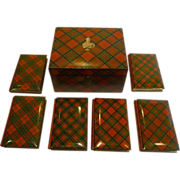 Magnificent & Rare Tartan Ware Box Containing Scott's Poetical Works c.1870