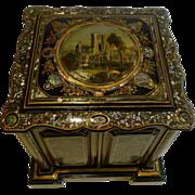 Grandest Antique English Papier Mache Drinks Cabinet c.1880