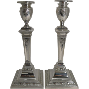 Stunning Pair Antique English Silver Plated Candlesticks c.1880