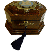 Rare & Grand Antique English Tea Caddy by Asser & Sherwin, London c.1860 - Wedgwood Mount