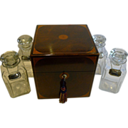 Grand Large Antique English Decanter / Drinks Box c.1880