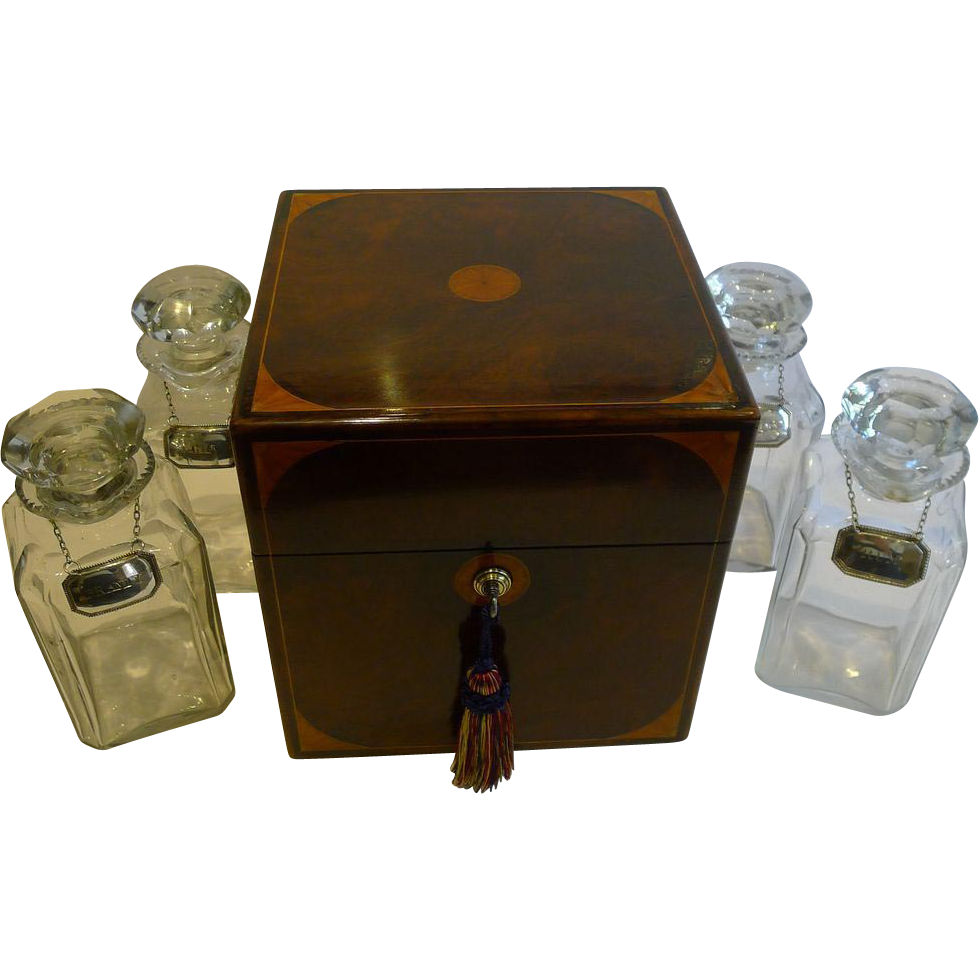 Grand Large Antique English Decanter / Drinks Box c.1880
