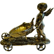 Charming Antique English Novelty Table Salt - Figural, Cherub