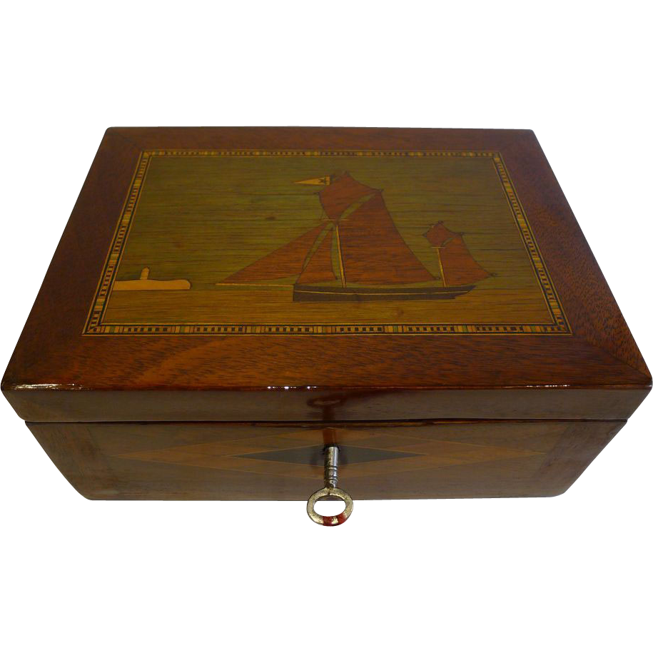 Antique English Trinity House Jewelry or Desk Box c.1860