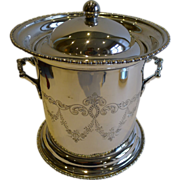 Elegant Antique Biscuit Box In Silver Plate c.1900