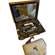 Stunning Antique French Palais Royal Sewing Box c.1820