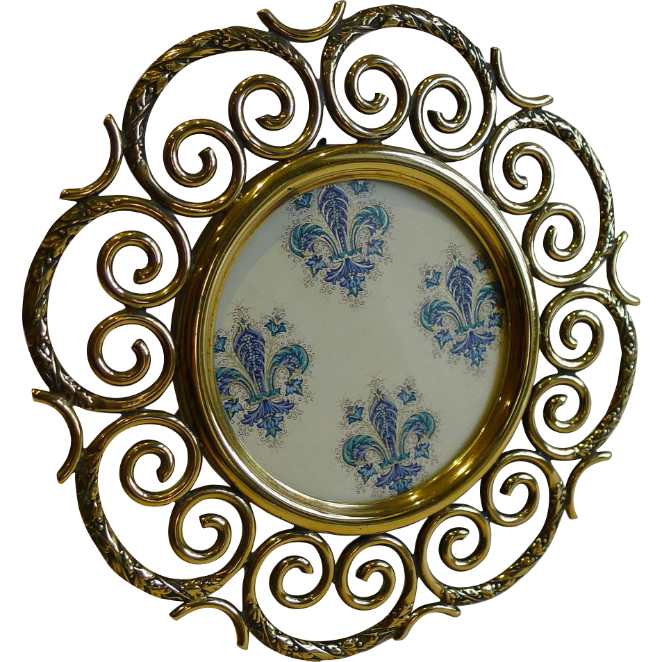 Stunning Antique English Brass Photograph Frame c.1880