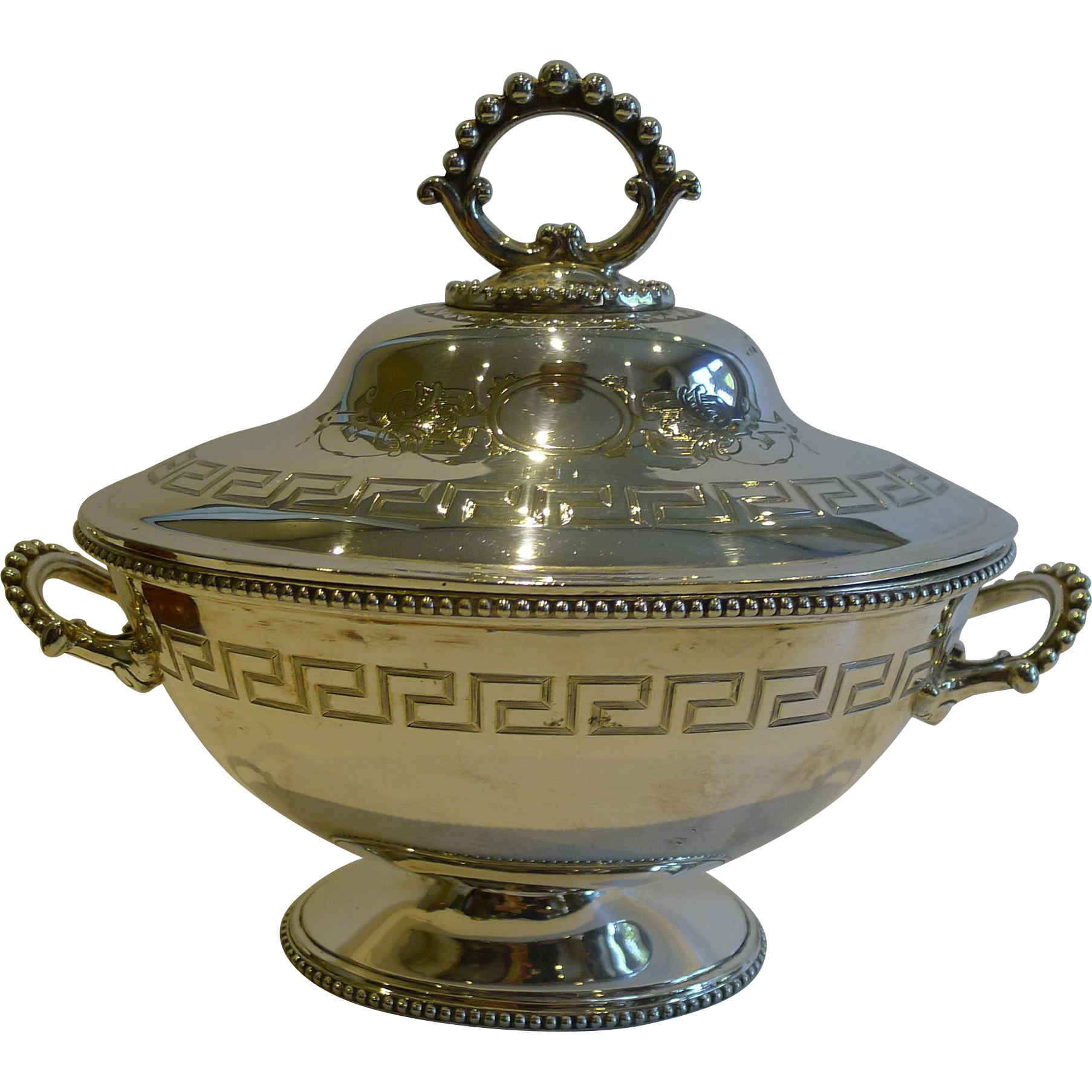 Small Antique English Silver Plated Tureen by William & George Sissons