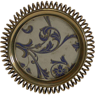 Small Antique English Brass Coil Photograph Frame c.1890