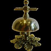 Antique English Brass Counter / Desk Bell c.1880