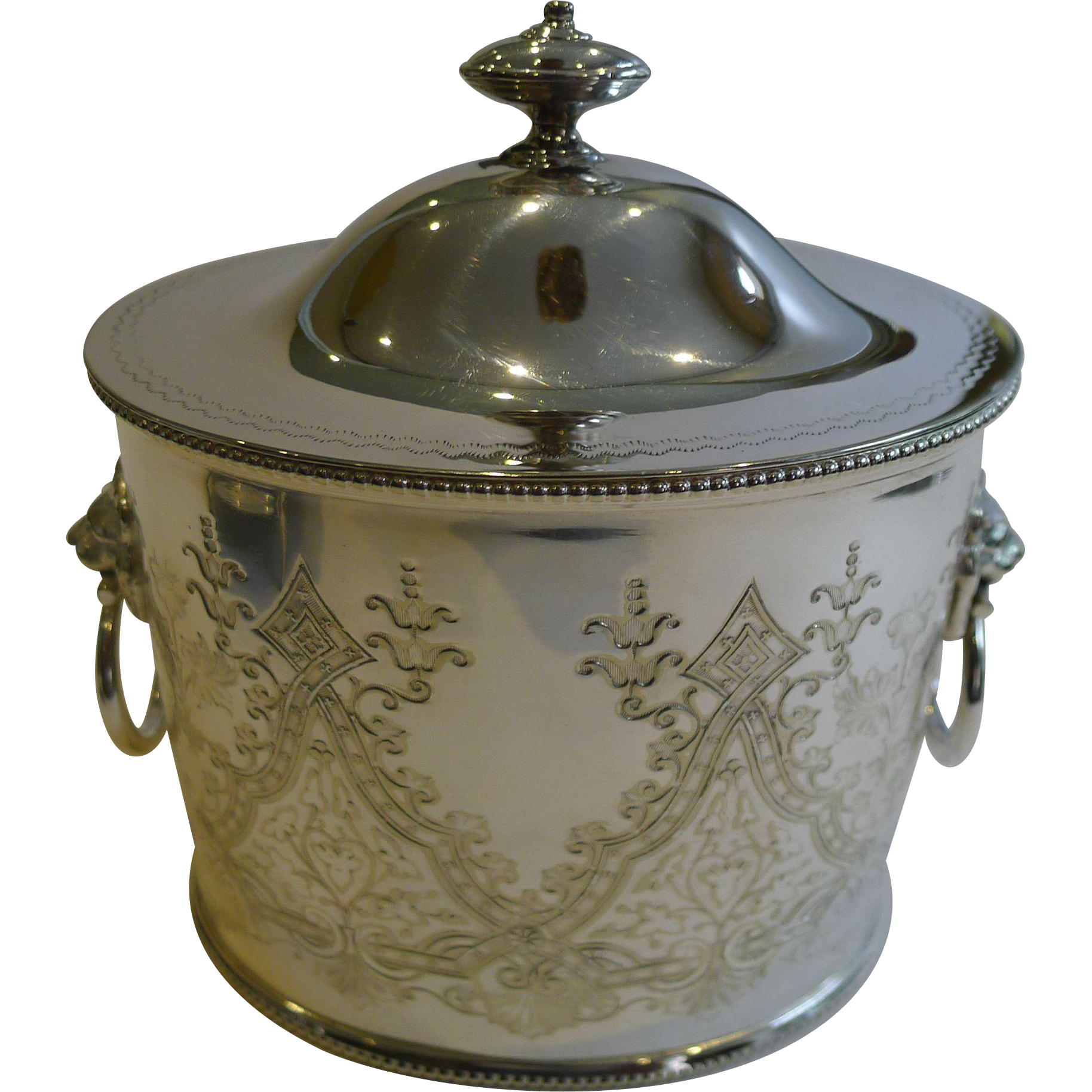 Antique English Silver Plated Tea Caddy by Joseph Hirons, Henry Hodson Plante & Co.