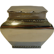 Antique English Sterling Silver Tea Caddy - 1902