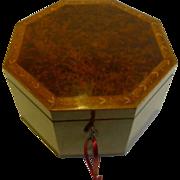 Magnificent George III Amboyna Wood Jewelry Box c.1790 by John Godwin