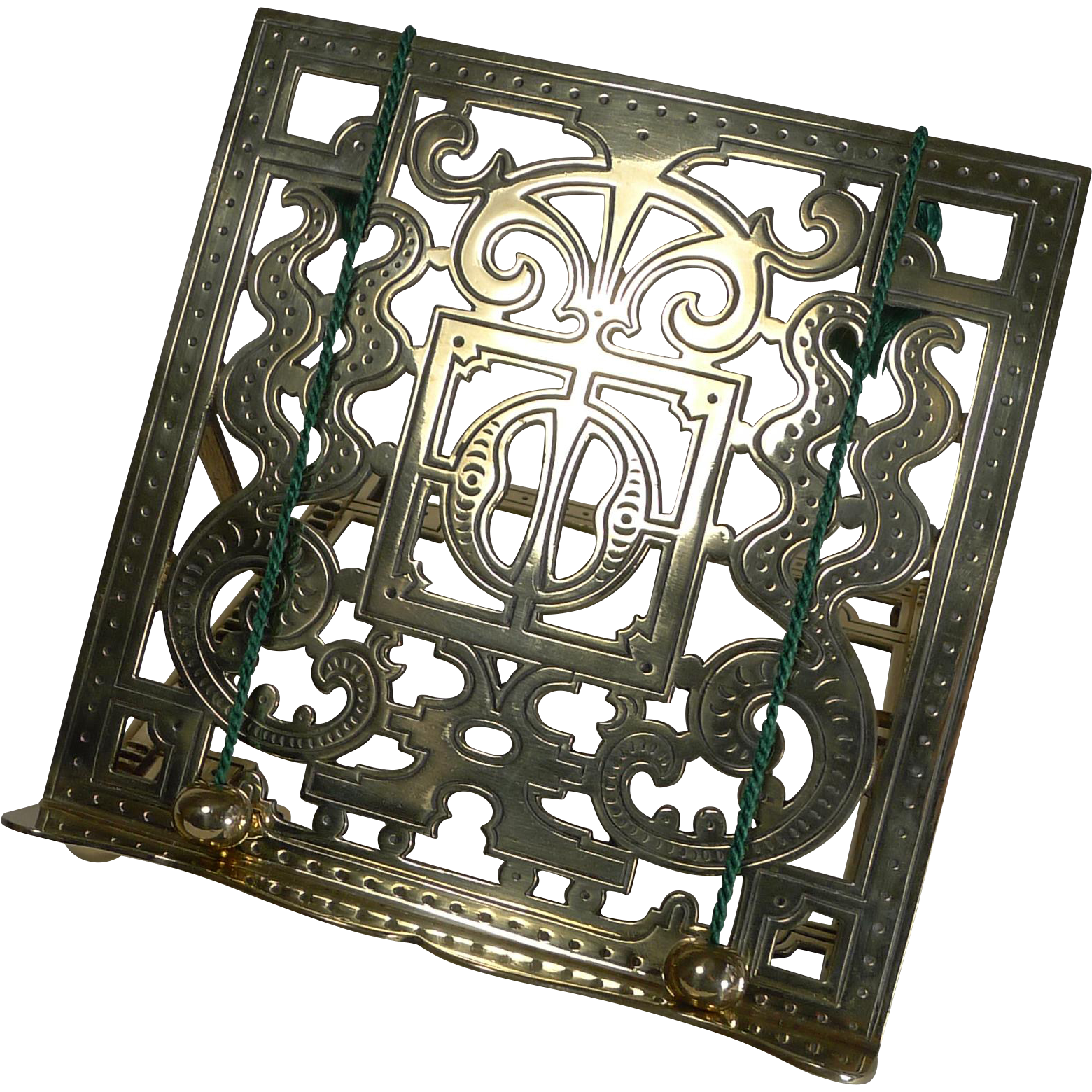 Charming Antique English Brass Book Stand / Lectern c.1880