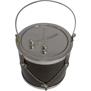 Fabulous Antique English Oak & Silver Plated Drum Form Biscuit Box / Barrel c.1890
