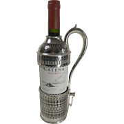 Antique English Silver Plated Wine Bottle Caddy / Server c.1890