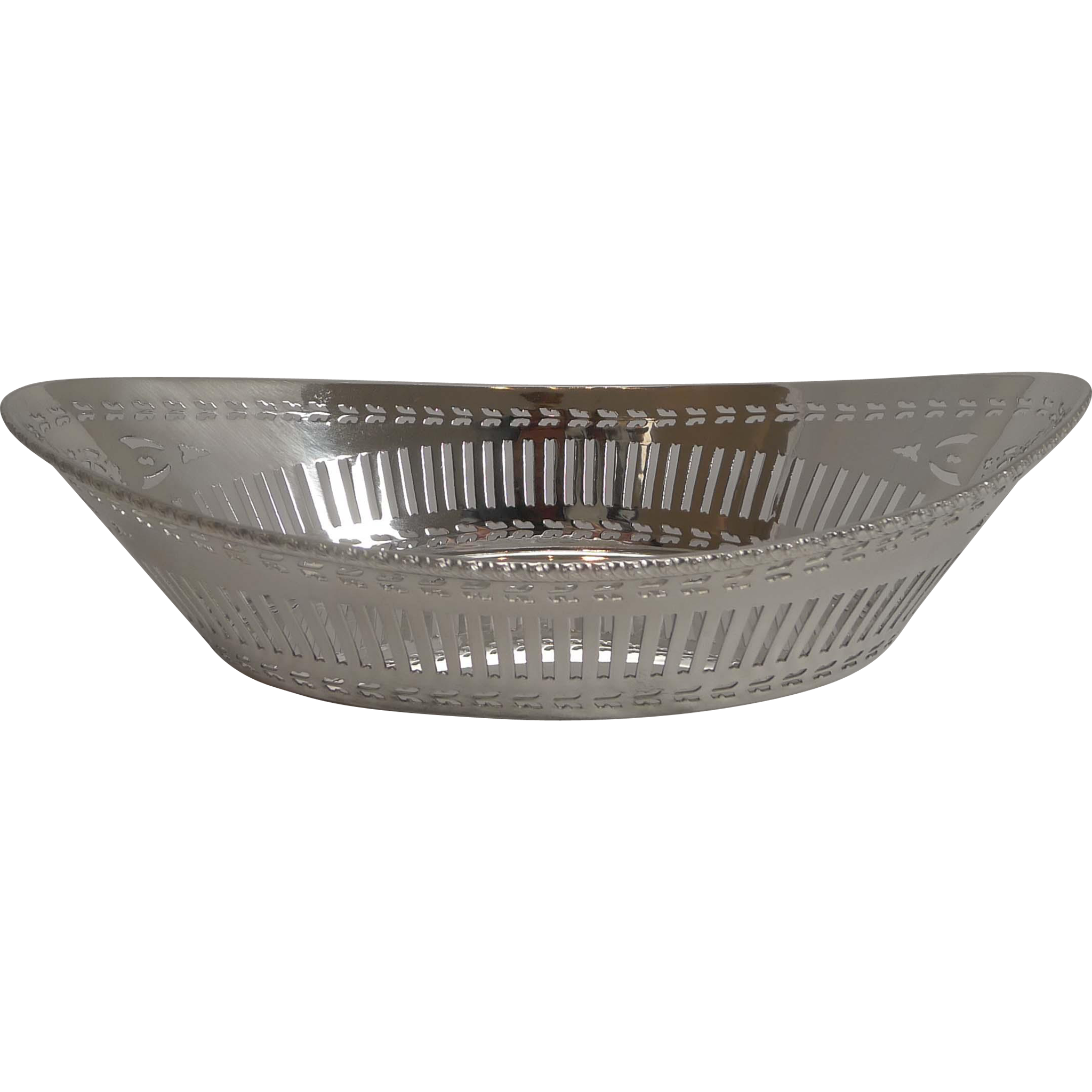 Antique English Silver Plated Bread Basket by Garrard & Co. c.1900