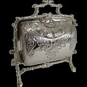 Rare Antique English Staniforth's Folding Biscuit Box - Zodiac Wheel c.1890