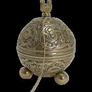 Antique English Cast Brass String Box / Dispenser c.1880