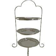 Antique English Silver Plated Cake Stand by William Suckling c.1910