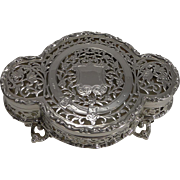 Finest Quality Antique English Sterling Silver Pot Pourri Table Box by George Nathan and Ridley Hayes