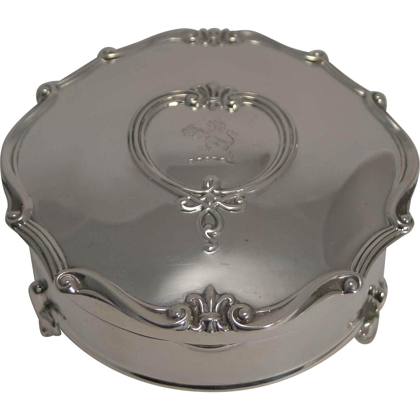 Fine Antique English Sterling Silver Jewelry Box by Mappin and Webb