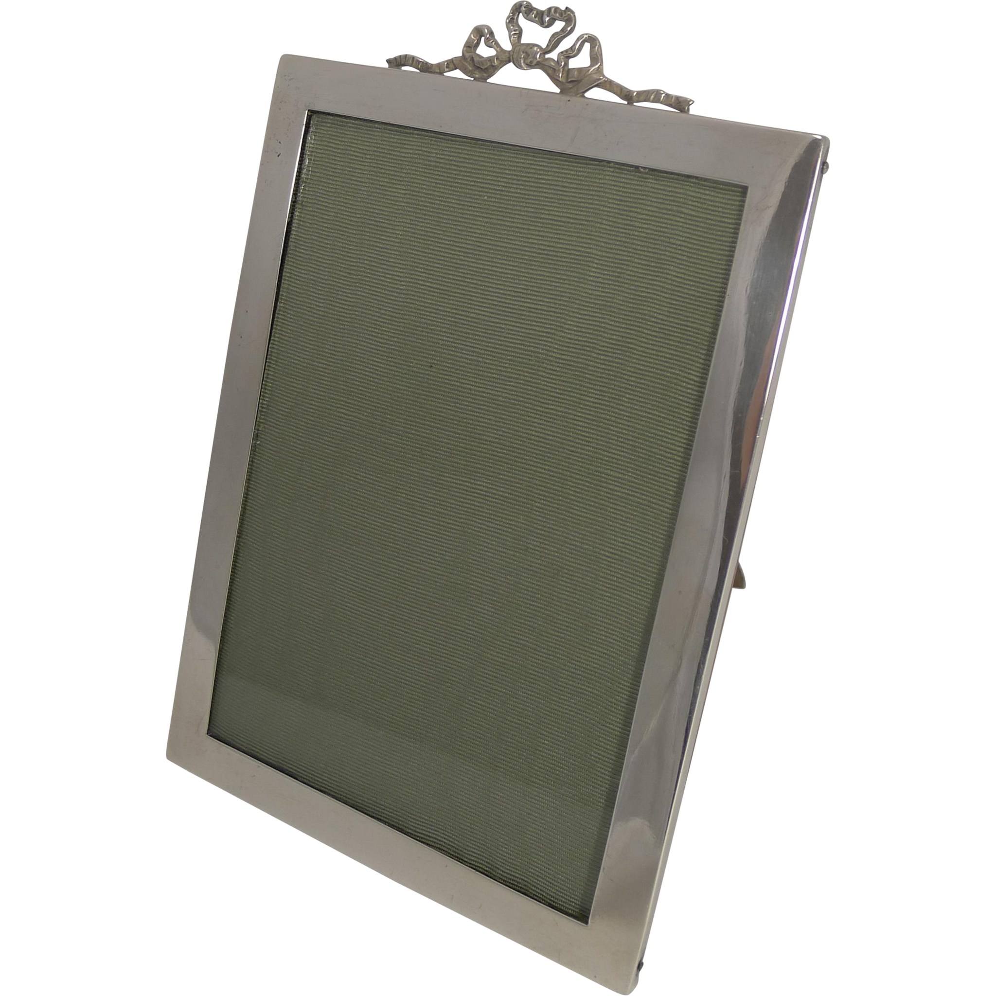 Antique English Sterling Silver Photograph Frame by Stokes and Ireland