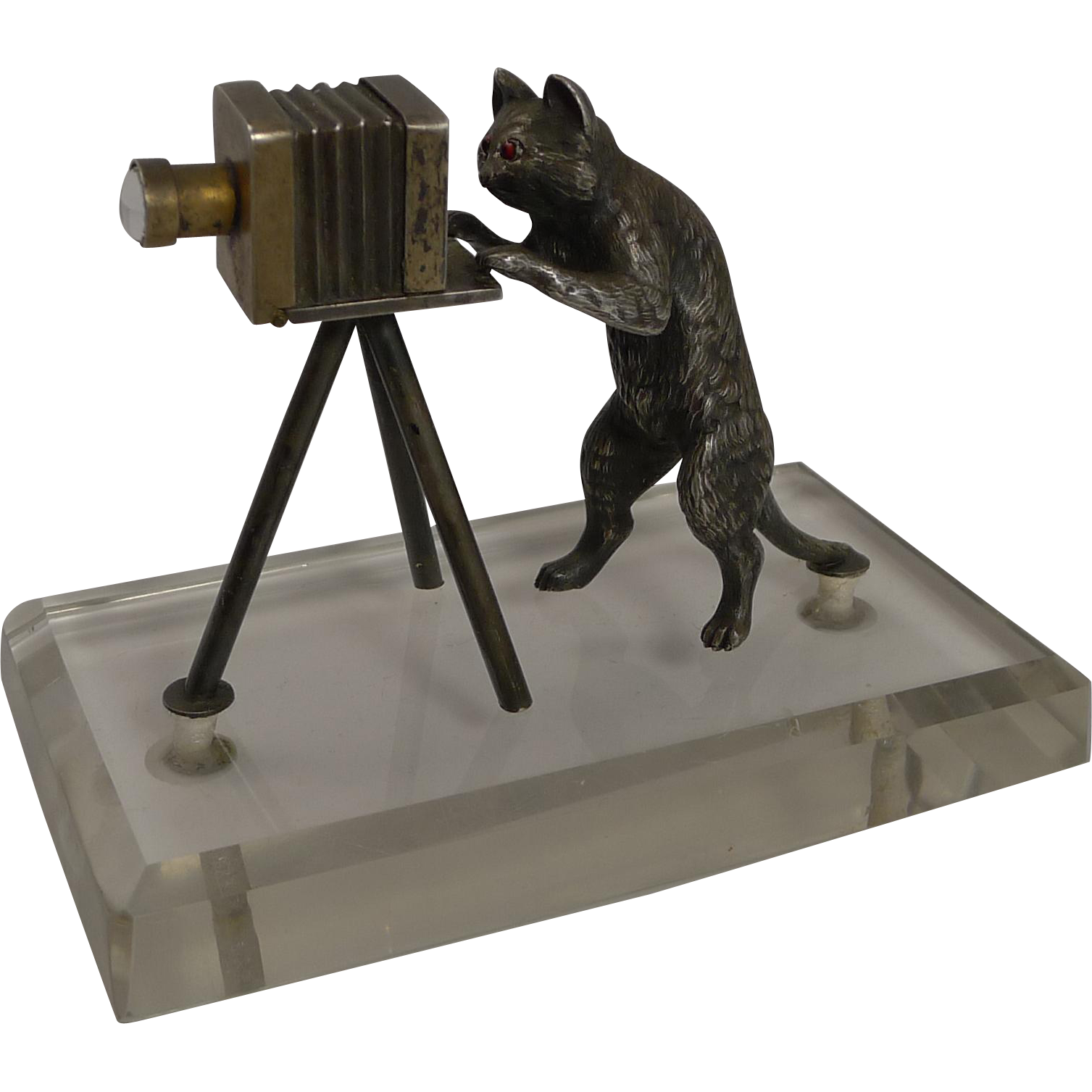 Superb Antique Austrian Figure - Cat Photographer c.1910