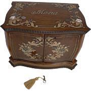Museum Quality French Inlaid Jewelry Cabinet c.1850 - Maria