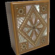 Antique French Inlaid Walnut Trinket / Jewelry Box c.1910
