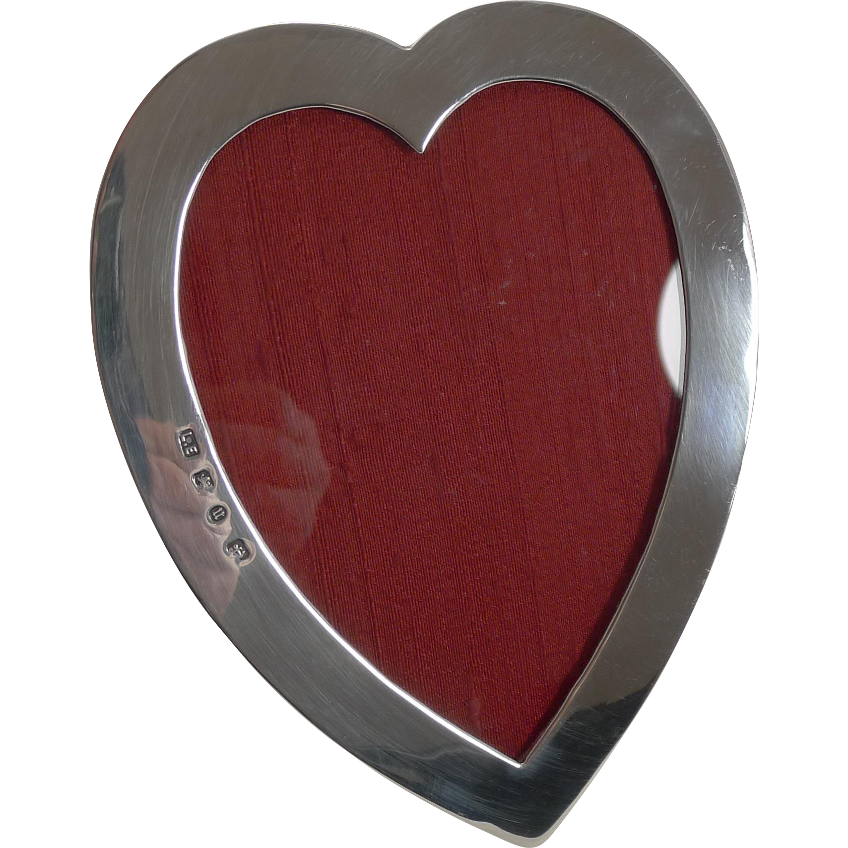Elegant Top Quality Victorian English Sterling Silver Photograph Frame - Heart